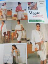 Vogue 2245 Womens Jacket Dress Top Skirt Shorts Wardrobe Sizes 6 8 10 UN... - $6.67