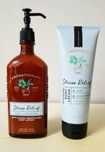 Set Bath & Body Works Aromatherapy Stress Relief Eucalyptus Body Cream & Lotion - $24.74