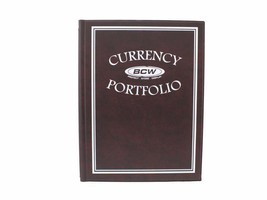 BCW Currency Portfolio Album, Burgundy - $11.99