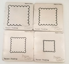 Cuttlebug Provo Craft Set of 4 Scalloped Square Dies