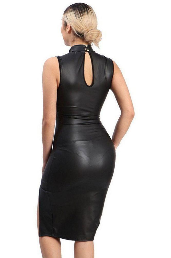 Women's Sleeveless Bodycon Knee Length Dress