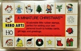 Hero Arts A Miniature Christmas Stamp Set, Rubber Mounted on Wood - $5.35