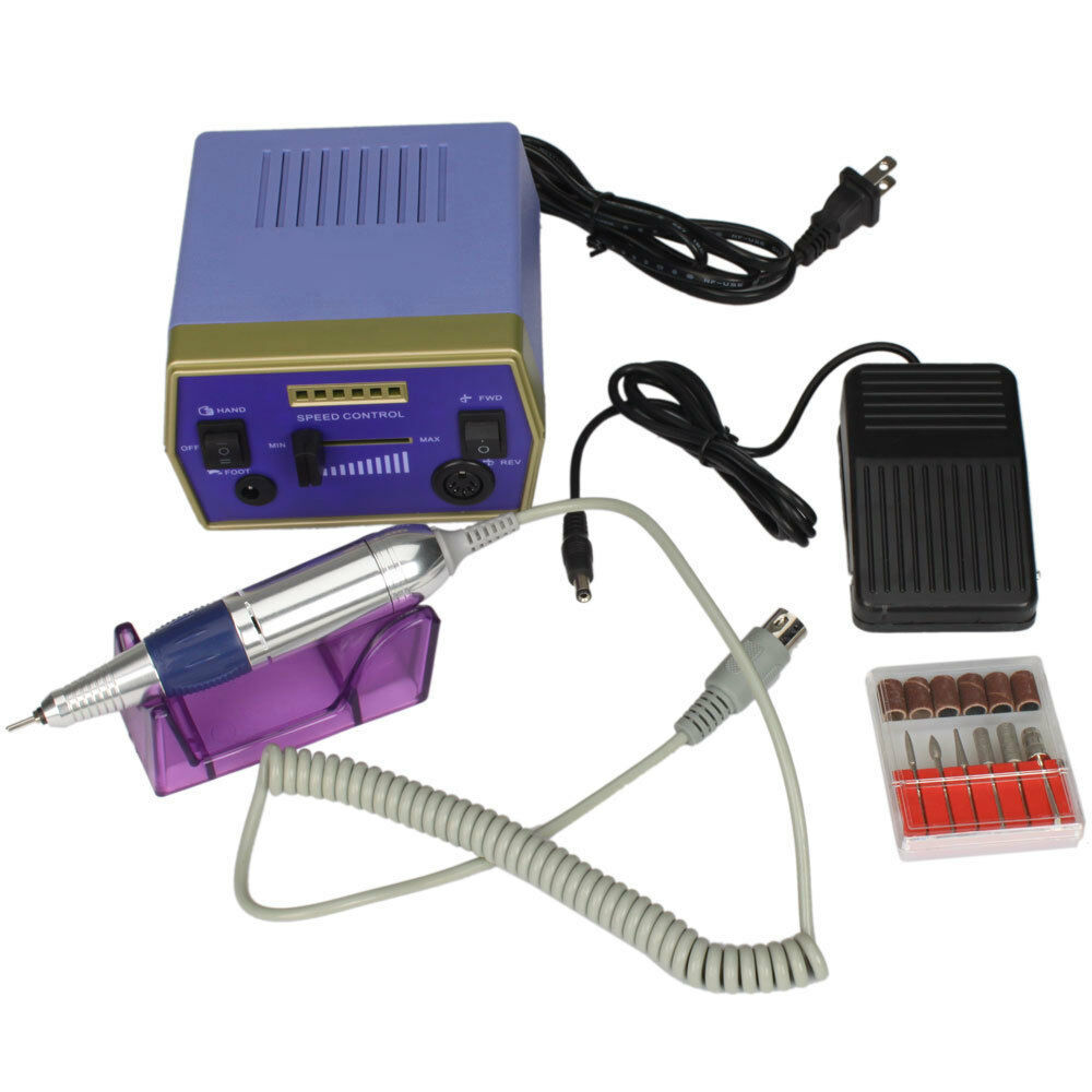 Glazing Machine Electric Drill Nail Art Manicure Pedicure Blue