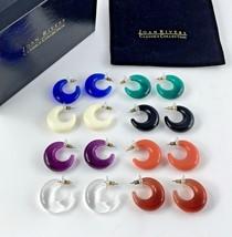 Joan Rivers Pierced Earrings Set 8 Classics Collections Lucite Box Bag L... - $108.88
