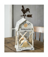 Country MARTINSVILLE FARMHOUSE CANDLE LANTERN  Holder Rooster Primitive ... - $67.99