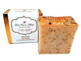 Citrus Basil Soap, 4oz Handmade Soap Bar, Natural Cold Process Soap, 100... - $8.81