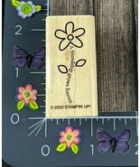 Stampin Up Rubber Stamp Friendship Grows Forever 2002 Flower Wood Mount ... - $7.42