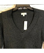 Ambiance charcoal gray V-neck pullover sweater - $22.77