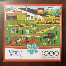 Buffalo 1000 Pc Jigsaw Puzzle Charles Wysocki - Four Aces Flying School ... - $16.29