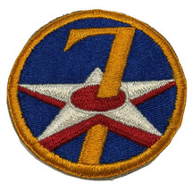 Original Wwii Usaaf U.S. Army 7th Air Force Cut Edge Full Color Patch No Glow - $12.16