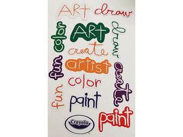 Crayola Word Die Cut Shapes, 36 Cardstock Pieces image 1
