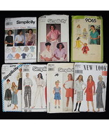 New Look Simplicity Lot 7 Used Patterns Tops Skirts Pants Mixed Sizes fr... - $1.99