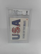 2001 Topps Enduring Freedom Stickers #2 Home of the Brave Beckett Grade 8 NM-MT - $1.99