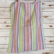 TOMMY HILFIGER Pillow Sham Sharon Stripe Standard Candy Pink Blue Lime C... - $8.57