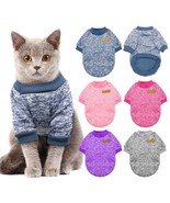 Warm Cat Dog Clothing Autumn Winter Sweater For Small Dogs Cats Outfit C... - $4.69+
