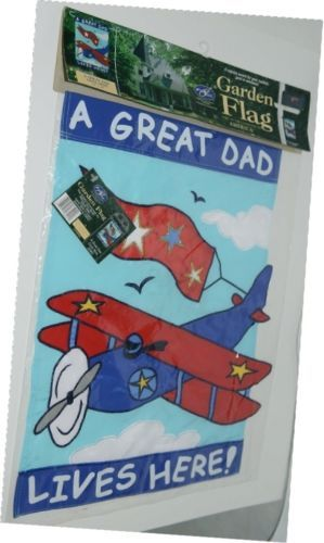 New Creative Enterprises 23401 A Great Dad Lives Here Banner