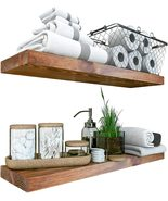 Floating Shelves Set of 2 - Rustic Shelf 24 inch - Made in Europe - $199.99