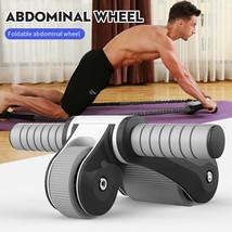 exercise foldable fitness roller equipment men ABS fitness roller abdominal - £42.50 GBP+