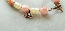 Copper Beads and Freshwater Pearl Bracelet - Handmade Jewelry - $15.00+