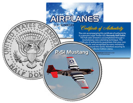 P-51 MUSTANG * Airplane Series * JFK Kennedy Half Dollar Colorized US Coin - $8.56