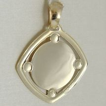 Pendant Medal Yellow Gold 375 9K, Face Christ, Rhombus, Satin, Made IN Italy image 3