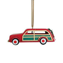 Wondershop Target Wooden Station Wagon Christmas Ornament 2018 New w Tag