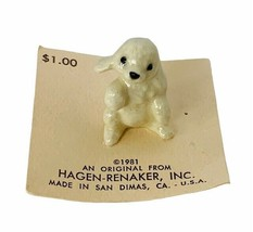 Hagen Renaker figurine vtg San Dimas California CA animal miniature Poodle dog - $23.17