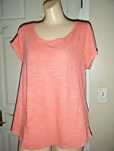 BANANA REPUBLIC  LT ORANGE SHORT SLEEVE TOP SIZE XL - $16.44