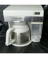 Black & Decker SpaceMaker Coffee Maker 10 Cup Thermal Stainless White OD... - $123.74