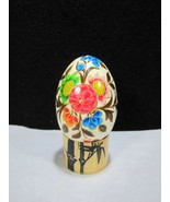 Hand Painted Wood Easter Eggs Spring Sunflowers, Pansies & Poppies ~Bamb... - $14.95