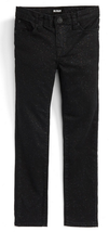 Hudson Girl's  'Repetition' Skinny Jeans,Black Daiquiri, Size 4, MSRP $55 - $21.77
