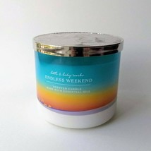 NEW Bath & Body Works Endless Weekend 3-Wick Soy Blend Wax Scented Candle - $24.26