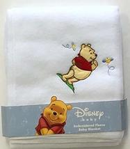 Disney Winnie The Pooh Embroidered Baby Blanket 30 x 40 in. 100% Polyest... - $6.99