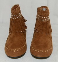 I Love Yo Kids AVA 78K Girls Fringe Boot Rust Silver Studded Size 4 image 2