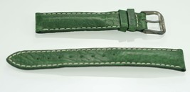 Fossil Unisex Stainless Steel Green Leather Replacement Watch Band 18mm - $8.59