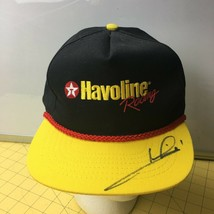 Havoline Motor Oil Racing Yellow Black Cap Hats Snapbacks Autographed Te... - $16.61