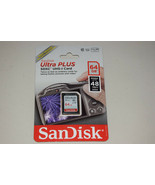 SanDisk Ultra Plus SDXC UHS-I 64 GB Class 10 Flash 48MB/s Memory Card Re... - $23.65