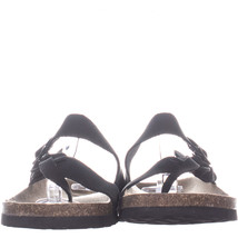 White Mountain Crawford Braided Slip On Sandals 593, BlackLeather, 6 US - $25.91