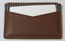 Fossil ML3811B201 Knox Card Case Dark Brown wallet leather mens credit ID - $49.49