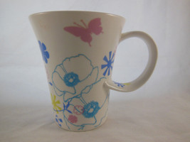 Starbucks Coffee Mug Cup 2006 Flowers Floral 12oz Butterfly Sprng Twisted Handle - $14.84