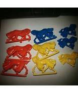 1992 Battle Masters Board Game Red, Blue, Yellow Horses(6) - $28.01
