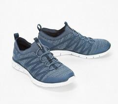 Skechers Stretch-Knit Bungee Slip-On Sneakers - Glider Tuneful Navy 8.5 M - $49.49