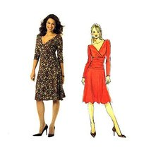 Misses Fitted Shirred Midriff Dress Butterick 4914 Sewing Pattern Size 8... - $13.72