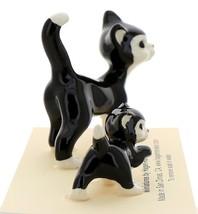Hagen-Renaker Miniature Ceramic Cat Figurine Black and White Tuxedo Cat Set image 4