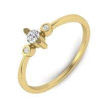 Swarovski Beautiful Wedding Ring White Diamond Ring Jewelry Yellow Gold Gift Her - $79.99
