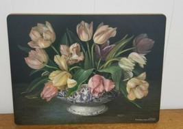 Pimpernel Floral Placemat Flowers Cork Back Display - $10.00