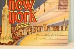 "1944 Curt Teich ""New York by Night"" Postcard Package EX - $3.95"