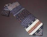 Tie daniel de fasson horizontal stripes blues   browns 02 thumb155 crop