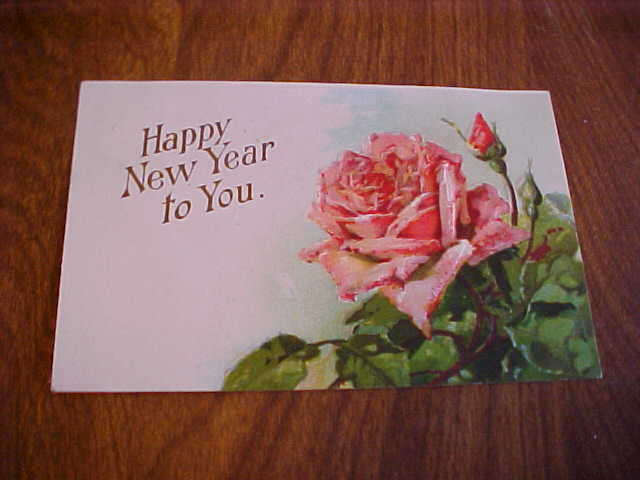 American Red Cross RPO New Year's Postcard