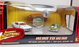 Johnny Lightning 1/64 Head to Head 2 car set 1971 Cutlass 442 1968 Cutla... - $14.95
